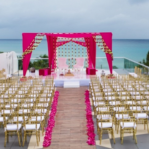 Waterside Indian wedding ceremony