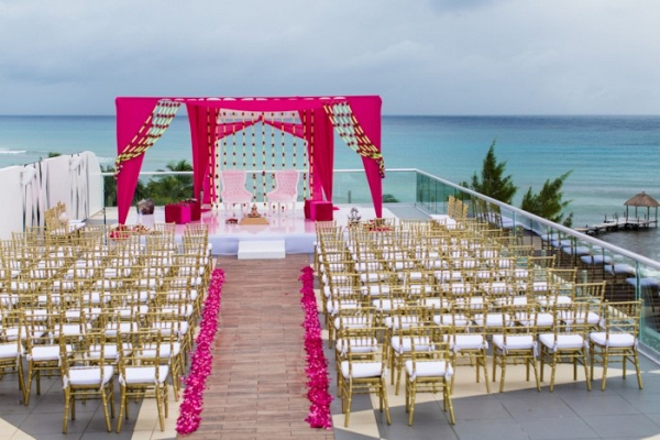 Waterside Indian wedding ceremony