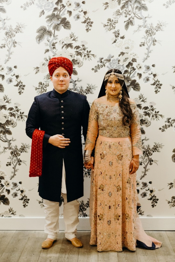 Pakistani bride and groom