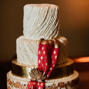 Indian inspired wedding cake