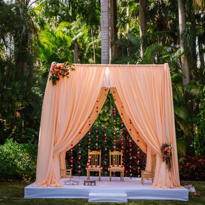 Coral and pink Indian ceremony