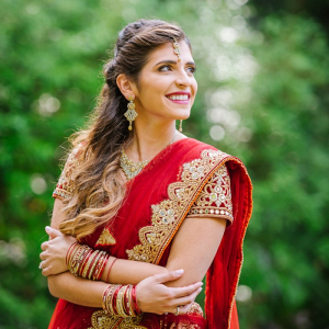 Bride in red sari