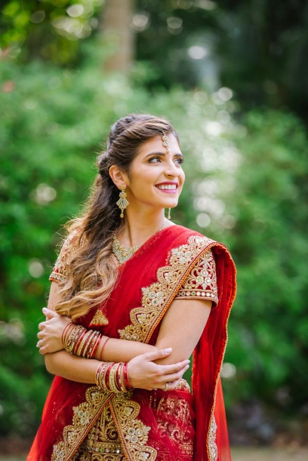 Bride in red sari
