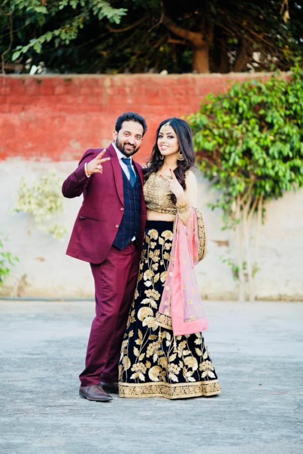 Fun Festive Punjabi Wedding Aisle Society