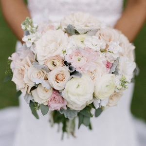 Pastel White Wedding Bouquet