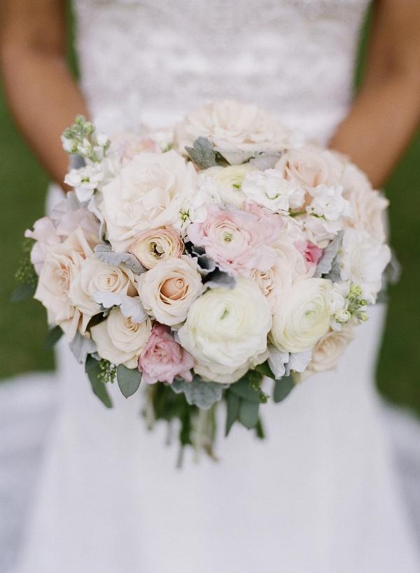 Pastel White Wedding Bouquet