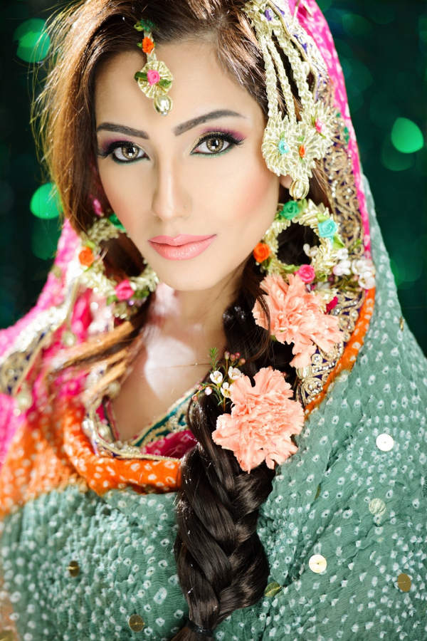 Colorful Desi bride