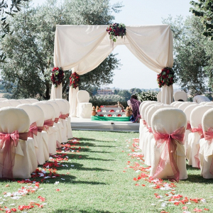 Outdoor Hindu wedding ceremony