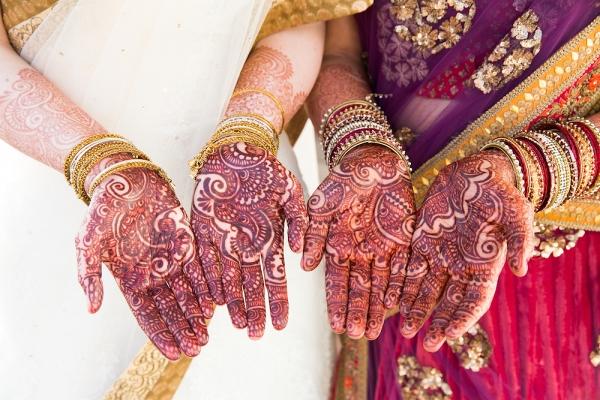 Mehendi for Two Brides