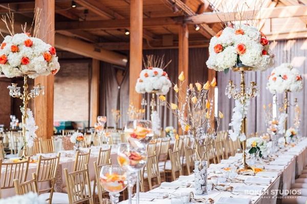 Reception Tables at Loft