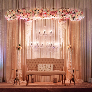Glam pink wedding reception