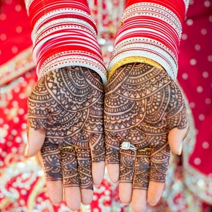 Indian Bride's Hands with Bangles