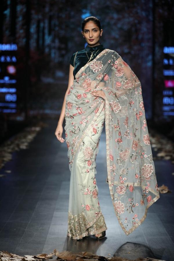 Shyamal and Bhumika saris