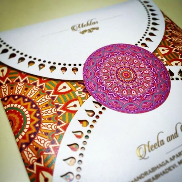 Colorful Indian Wedding Invitation