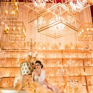 Luxury Indian Wedding Reception Backdrop Inspiration