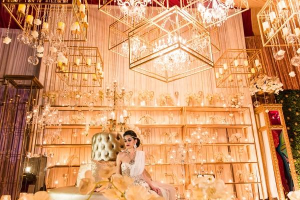 Luxury Indian Wedding Reception Backdrop Inspiration