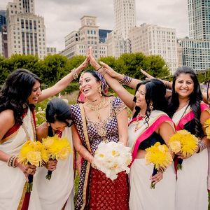Indian bridal party