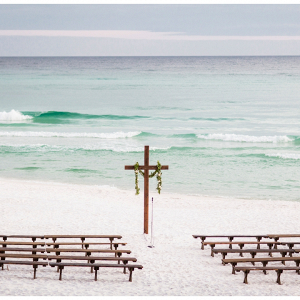 beach side wedding ceremony