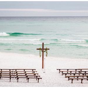 beach side wedding ceremony