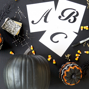 DIY Monogrammed Pumpkin with Pearl Pins