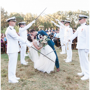 Military wedding sword arch
