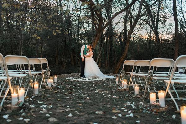 candle lit wedding portraits