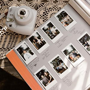 Polaroid photo wedding guest book