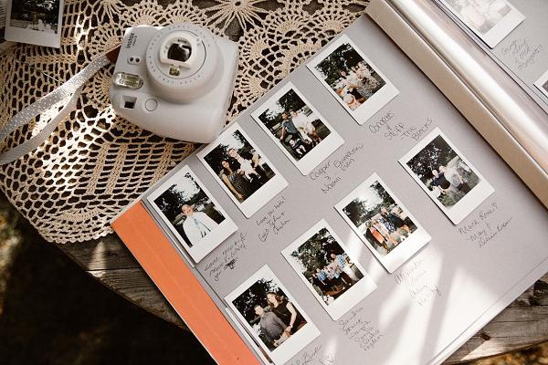 Polaroid photo wedding guest book