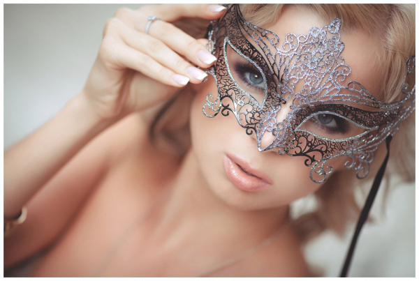 Masquerade mask for themed wedding