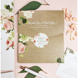 Customized wedding envelope