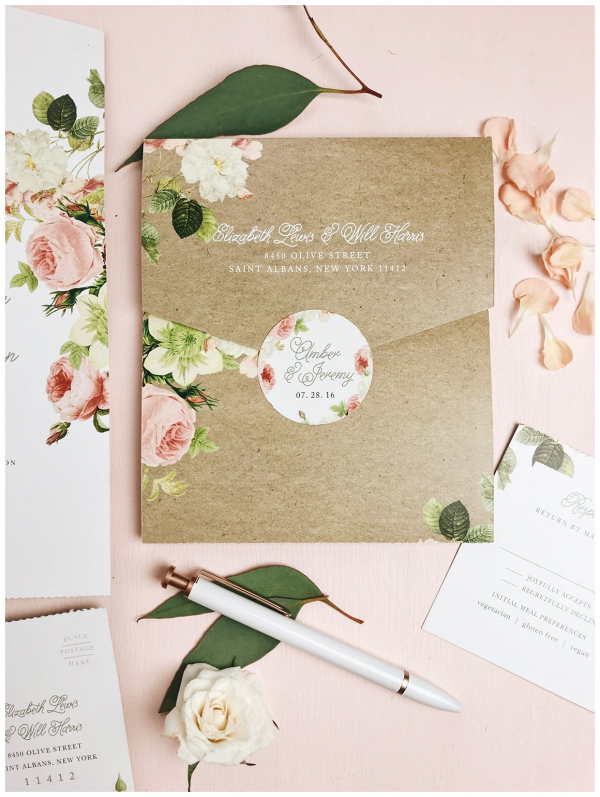 Customized wedding envelope