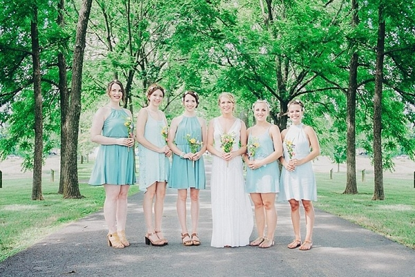 Mint bridesmaid dresses on The Budget Savvy Bride