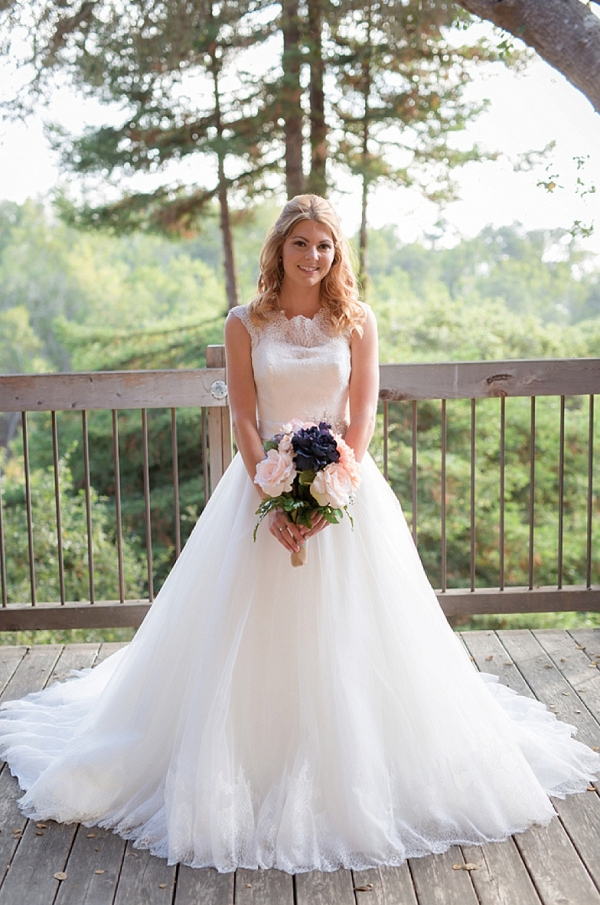 Bride with Bouquet on The Budget Savvy Bride