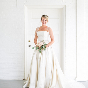 Bride in classic wedding dress