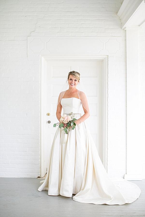 Bride in classic wedding dress