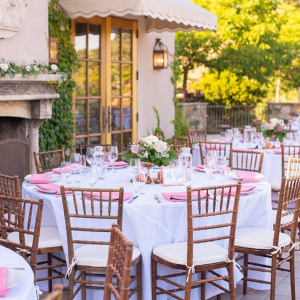 Winery outdoor wedding reception