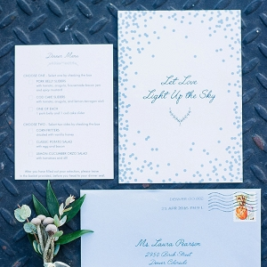 Blue Wedding Invitation on The Budget Savvy Bride