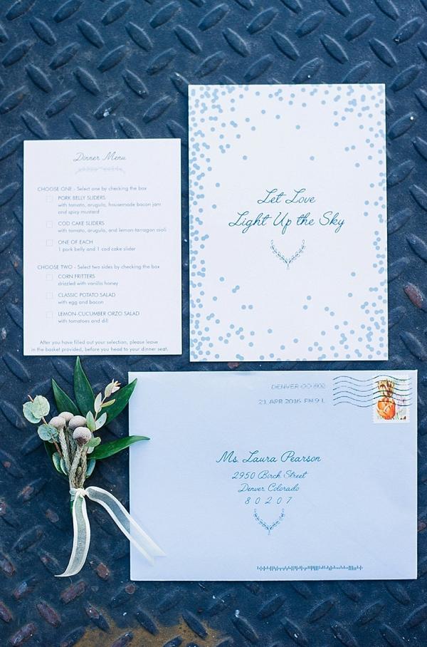 Blue Wedding Invitation on The Budget Savvy Bride
