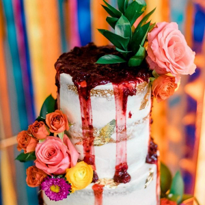 Colorful drip cake