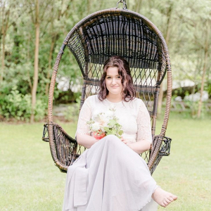 Bride in swing chair