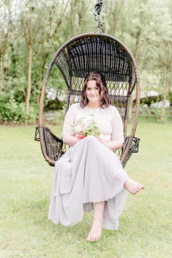 Bride in swing chair