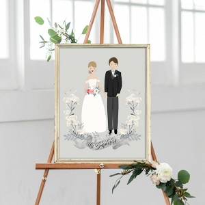 custom wedding art on The Budget Savvy Bride