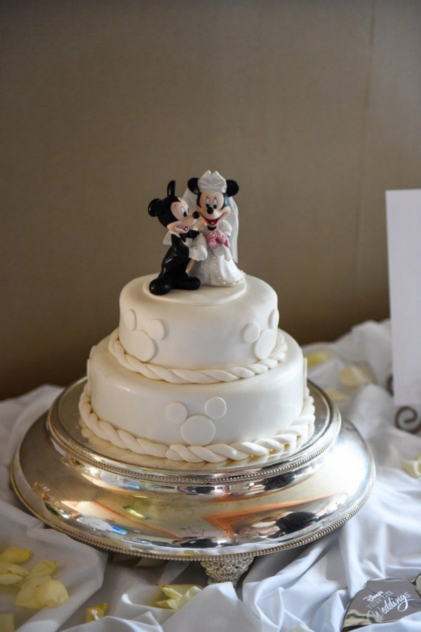 Classic nautical Disney wedding cake