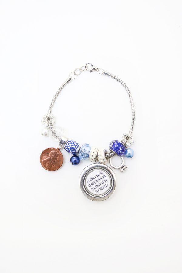 Something old, new, borrowed, blue bracelet on The Budget Savvy Bride