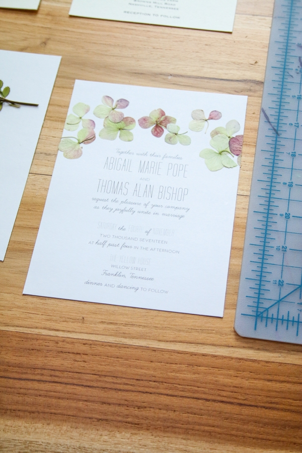pressed flower wedding invitations on The Budget Savvy Bride