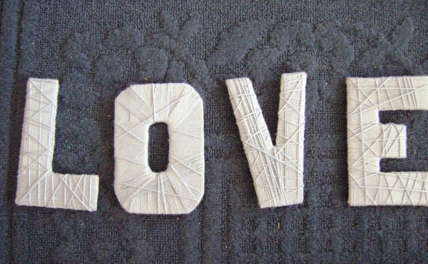 DIY yarn letters on The Budget Savvy Bride