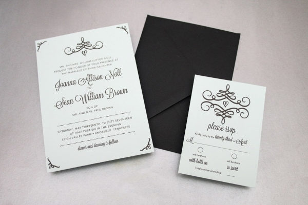 Swirl Invitations on The Budget Savvy Bride