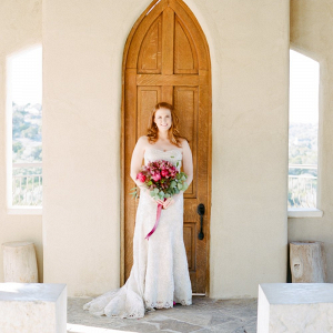 Bride at historic Austin chapel