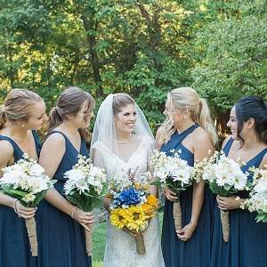 navy bridesmaids on The Budget Savvy Bride