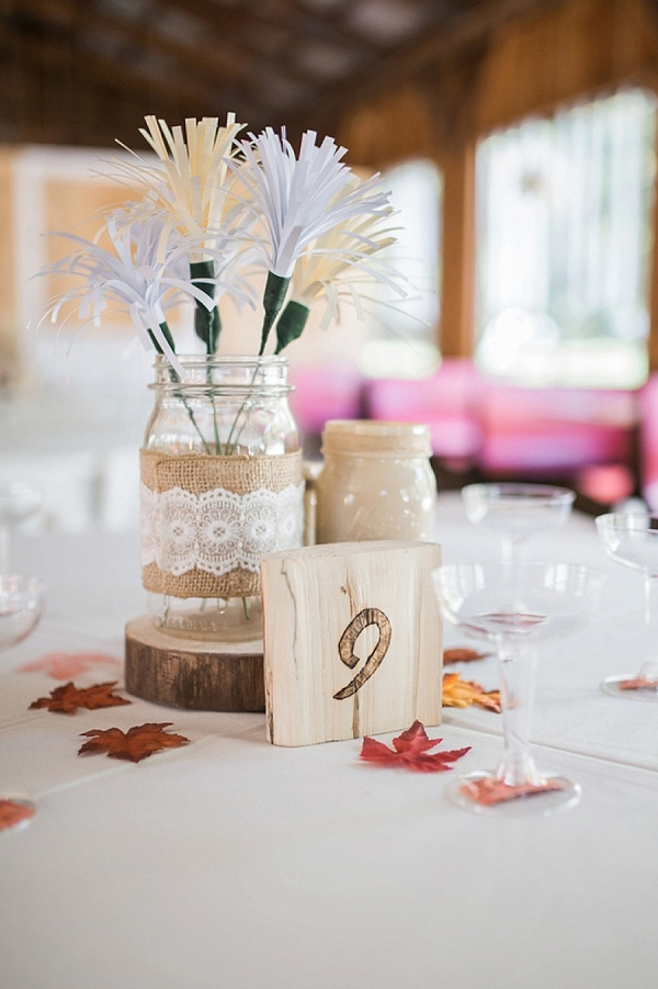 rustic fall DIY centerpieces on The Budget Savvy Bride